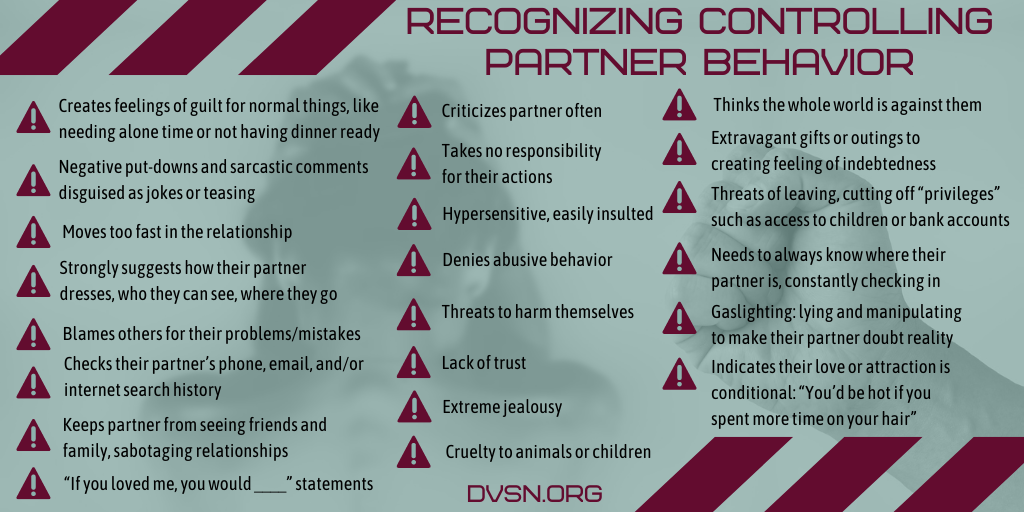 Abusive relationship signs of an warning Dear Abby: